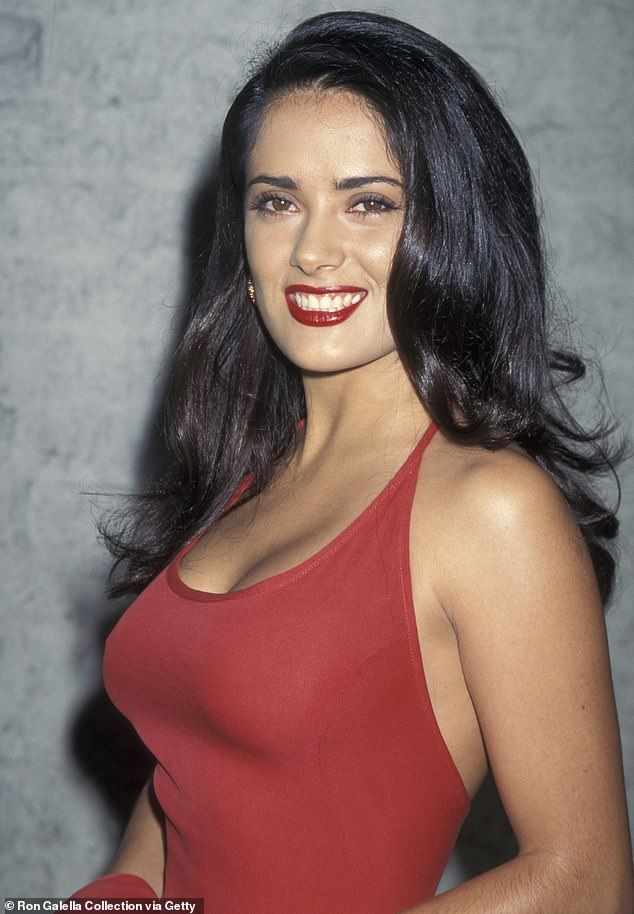 Rejected:Salma Hayek was turned down for two comedies in the early Nineties because she was Mexican. The 54-year-old star told Variety she was told after her auditions she did an excellent job but the movie studio did not want her. Seen in 1995