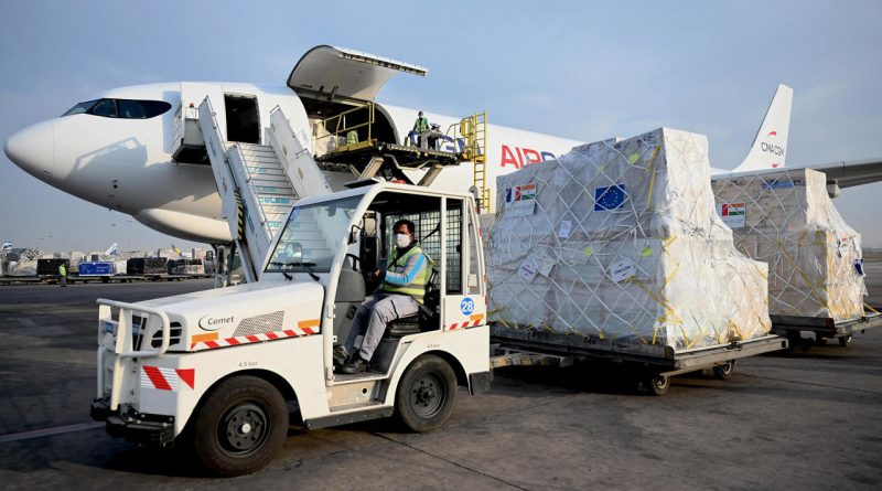 India Receives Medical Supplies From France To Combat Covid Surge